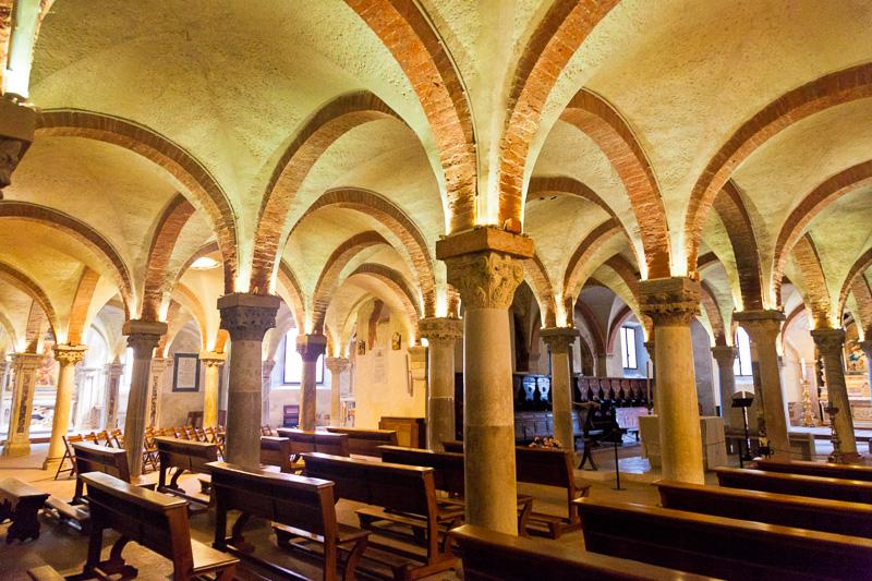 La cripta della cattedrale