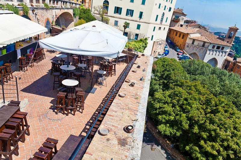 La terrazza di un ristorante