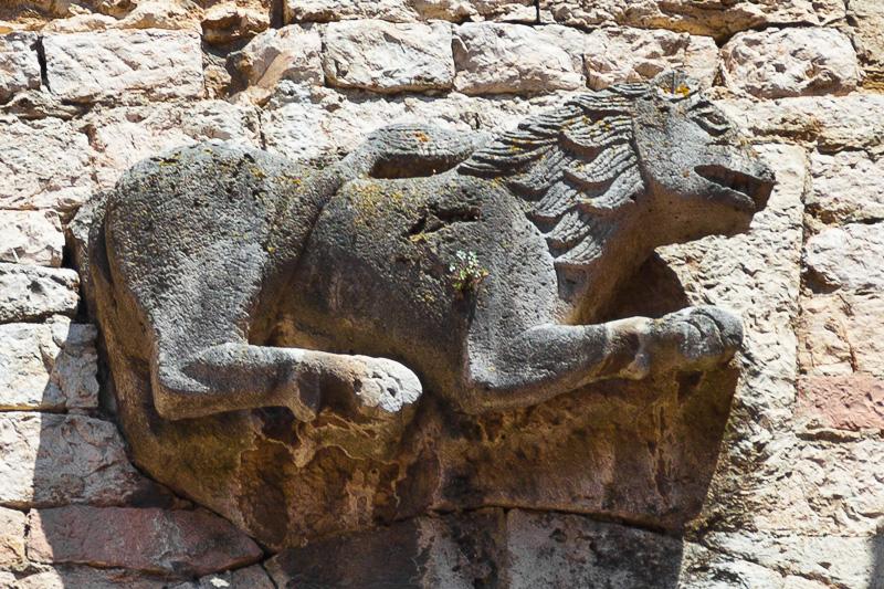 L'altorilievo di un leone