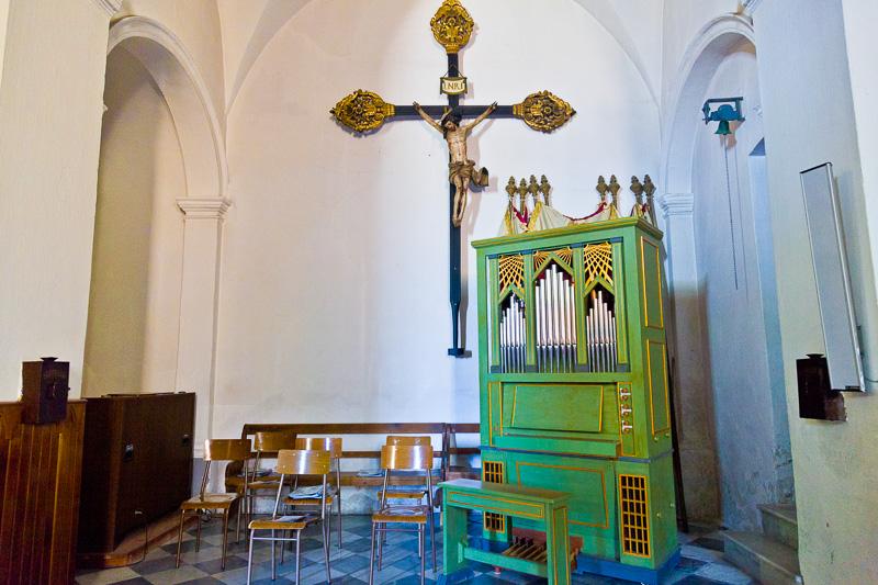 Un organo a canne verde