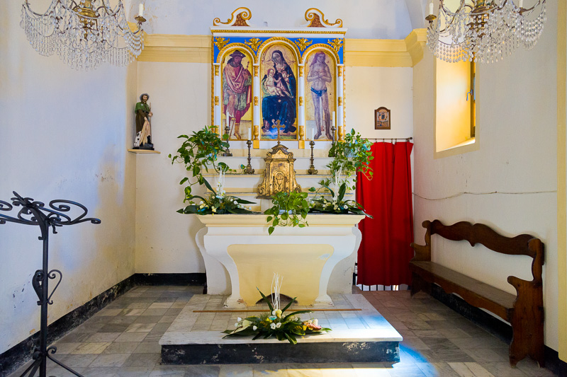 L'altare dell'oratorio San Rocco