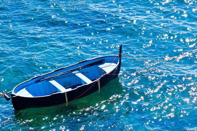 Barca azzurra