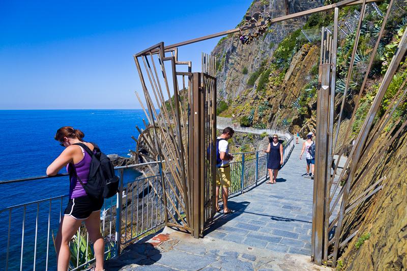 Il cancello d'ingresso per la Via dell'Amore