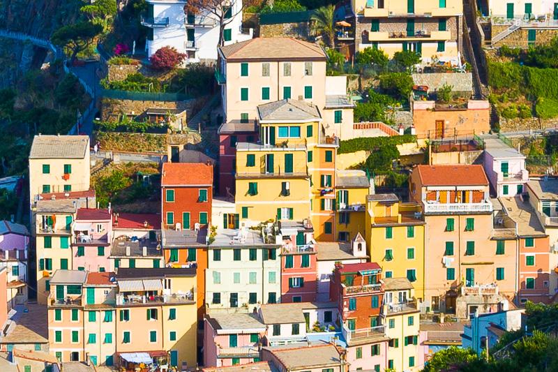 Alcune case torri colorate