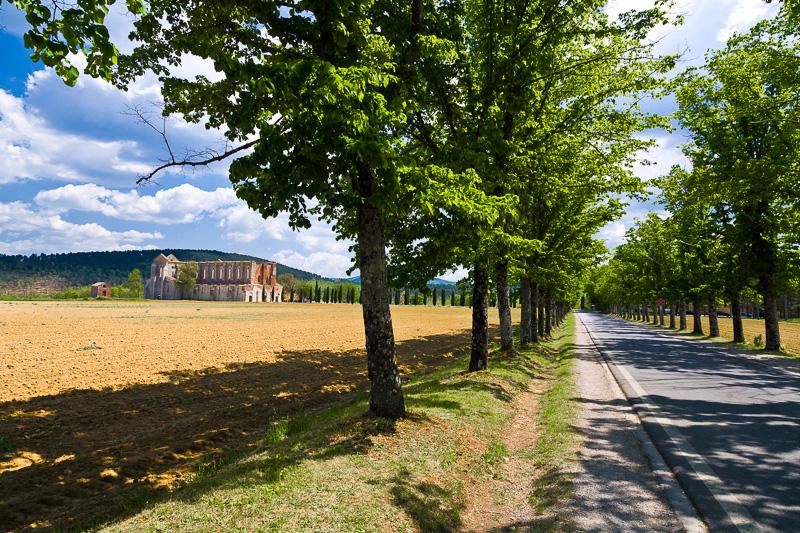 La strada che conduce all'abbazia
