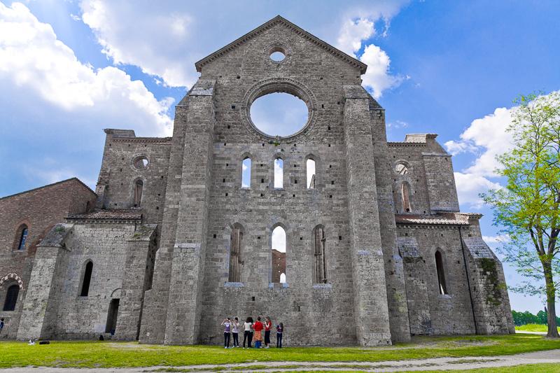 La facciata esterna dell'abside