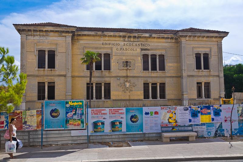 """L'ex edificio scolastico """"G. Pascoli"""""""