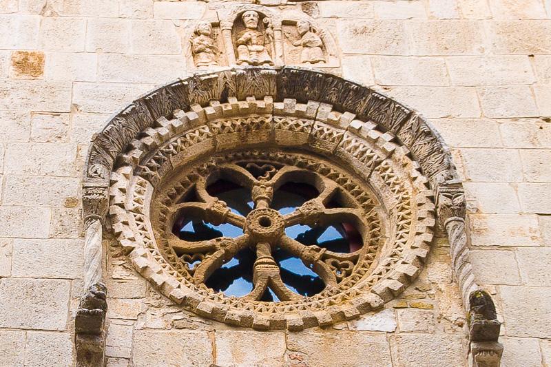 Il rosone della chiesa di San Severino Abate