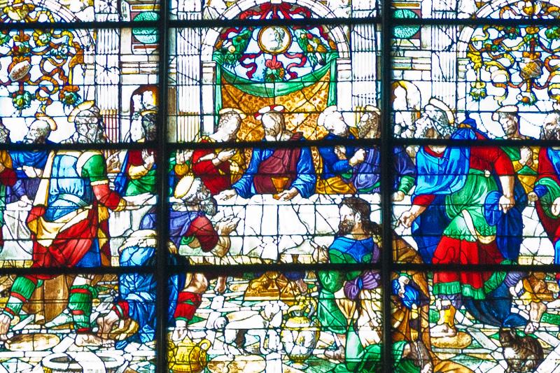 La vetrata del rosone del Duomo