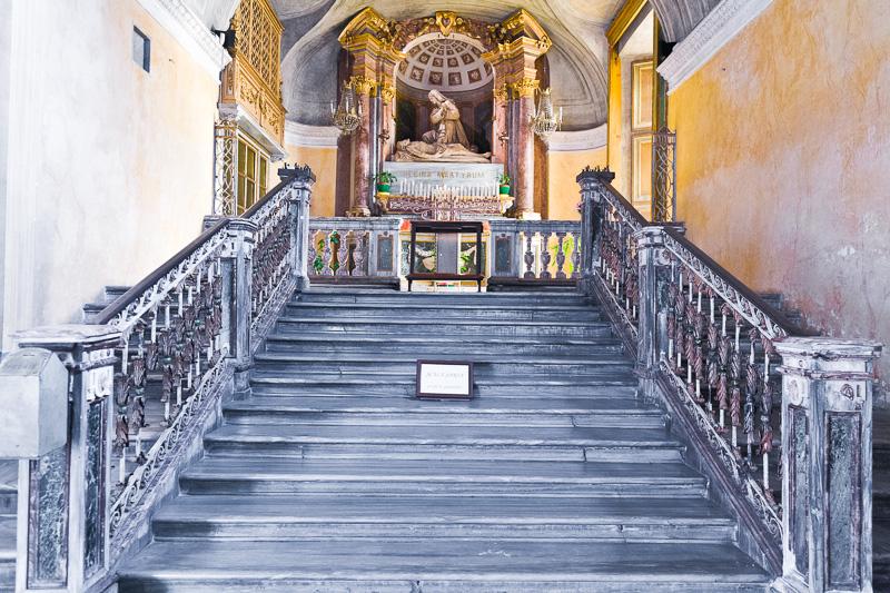 La Scala Santa della chiesa di San Lorenzo
