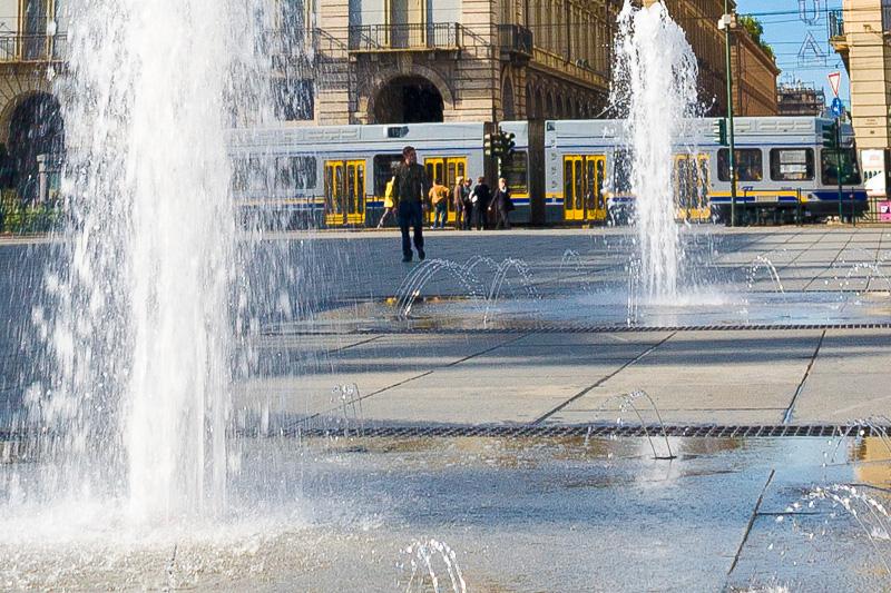 Le fontane di piazza Castello