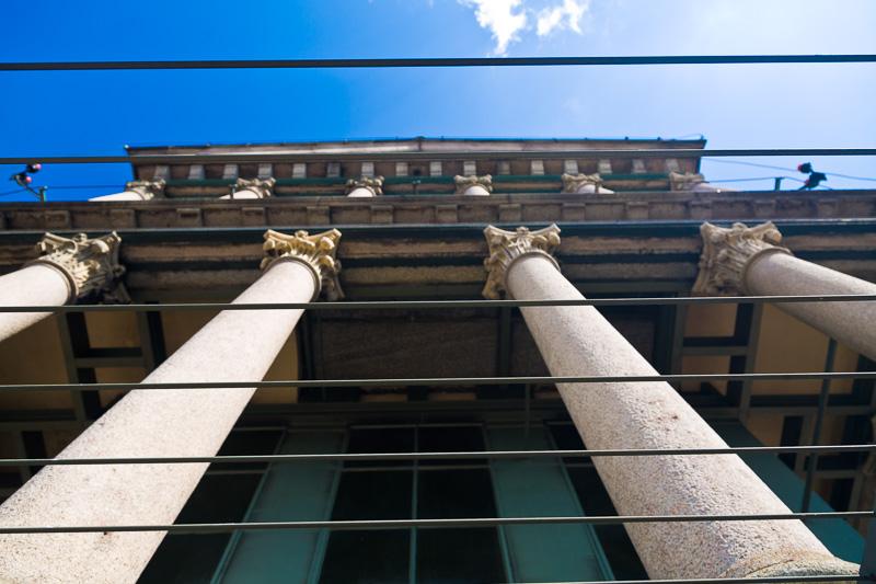 Il colonnato del tempietto della Mole Antonelliana