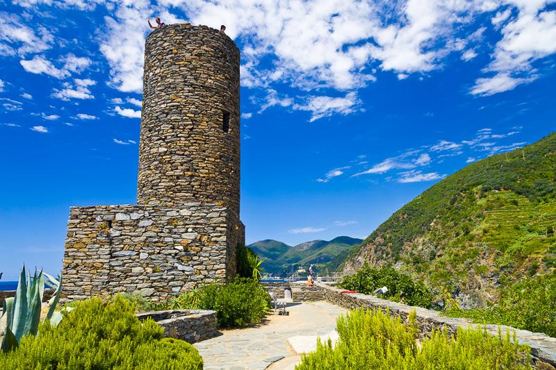 La torre circolare del castello dei Doria