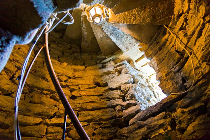 La scalinata a chiocciola, della torre del castello dei Doria