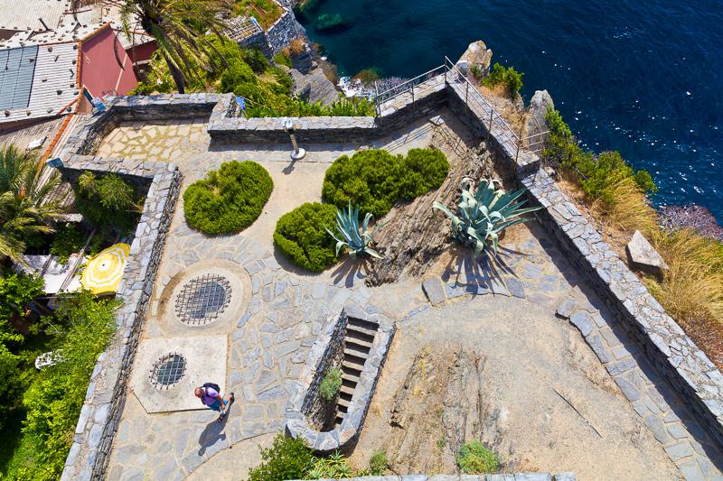 La terrazza del castello dei Doria