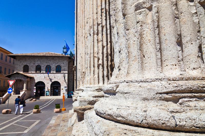 Il tempio romano di Minerva