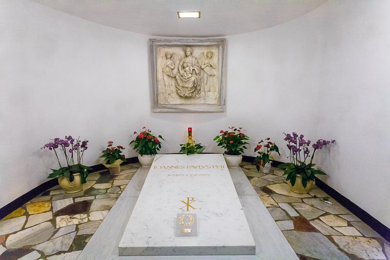 La tomba di papa Giovanni Paolo II (Karol Wojtyla)