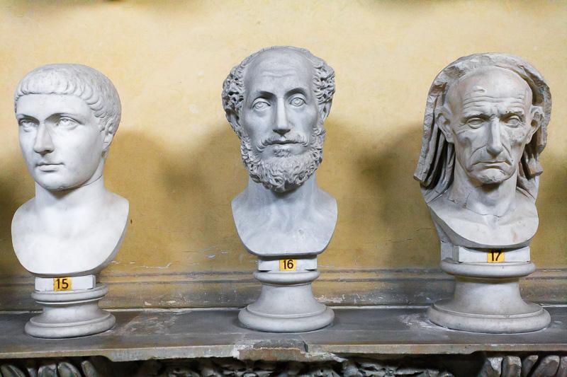 Busti del museo Chiaramonti