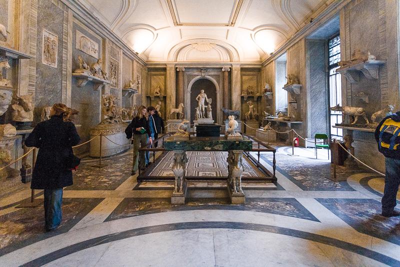 Sala degli animali nel museo Pio Clementino