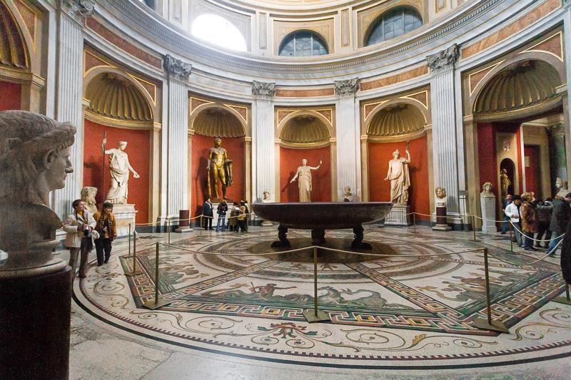 La Sala Rotonda nel museo Pio Clementino