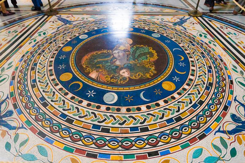 Mosaico circolare nel museo Pio Clementino (Musei Vaticani)