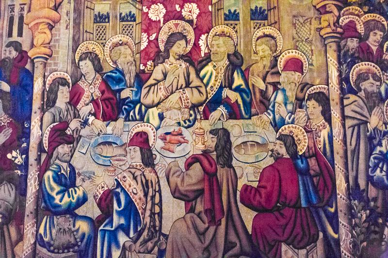 Arazzo dell'Ultima Cena nei Musei Vaticani