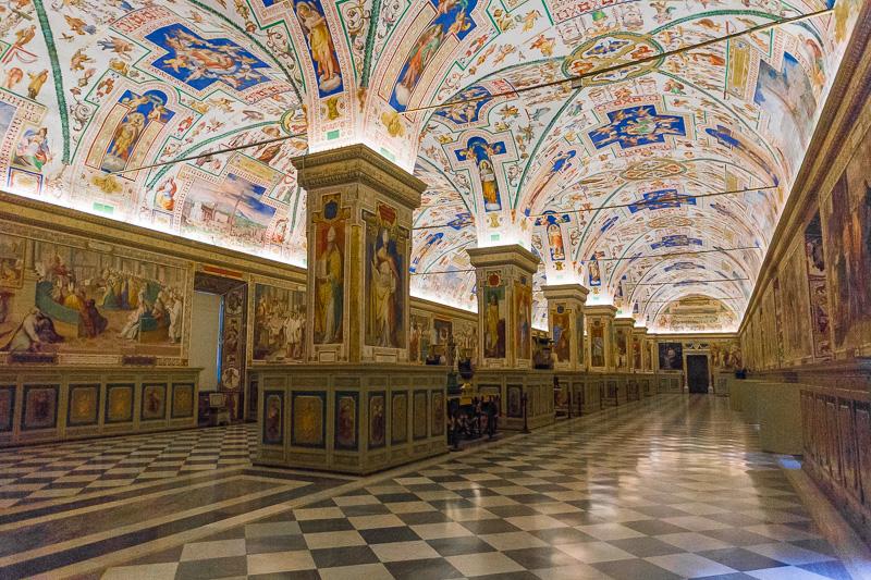 Il Salone Sistino della biblioteca Apostolica Vaticana