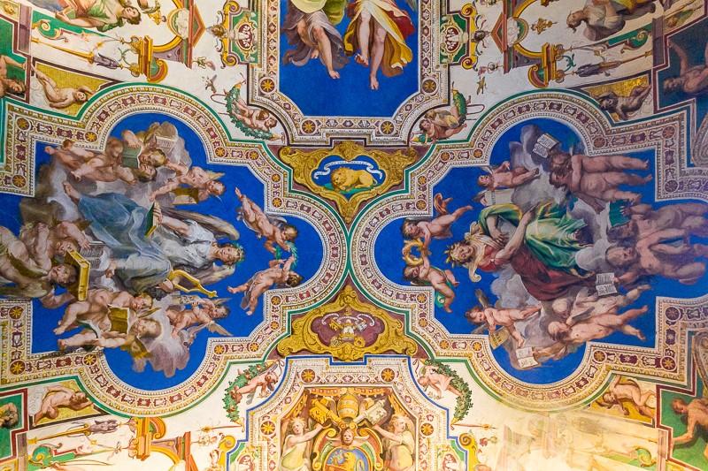 Sala degli archivi pontifici nei Musei Vaticani
