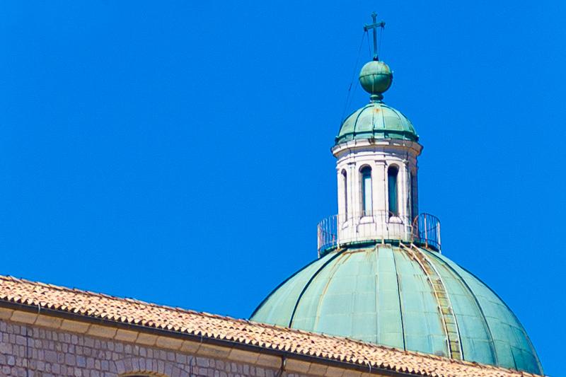 La cupola della Basilica dell'abbazia