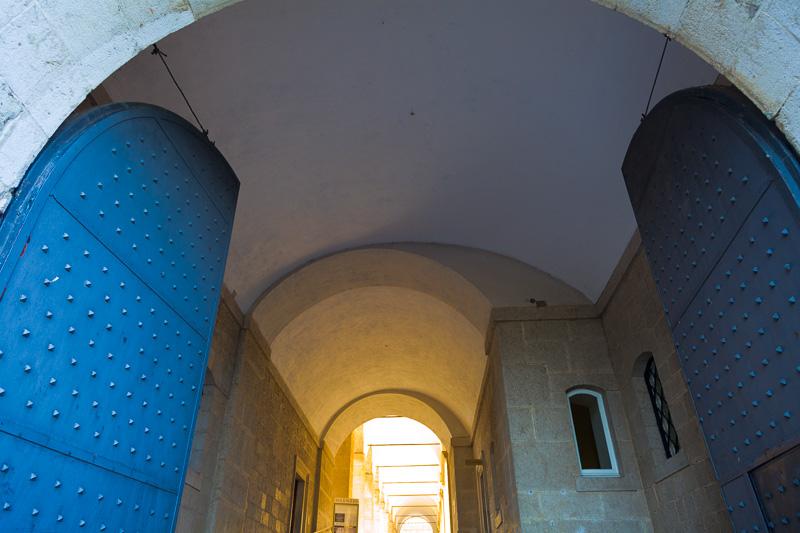 Ingresso all'abbazia di Montecassino