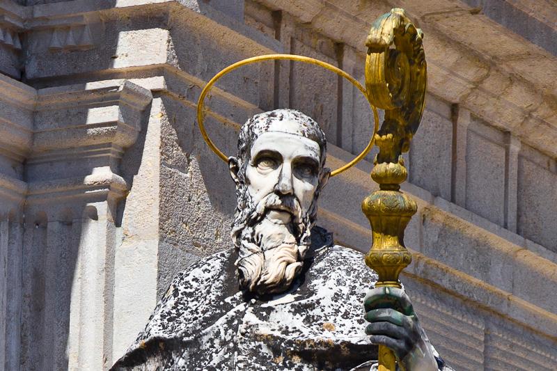 La statua originale di San Benedetto