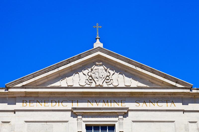 Il timpano della Basilica Cattedrale