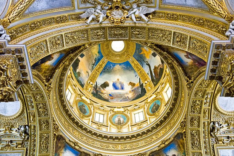 La cupola con gli affreschi di Pietro Annigoni