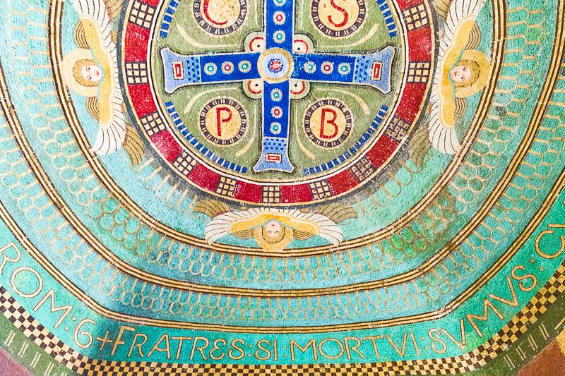 Un mosaico nella cappella di San Placido