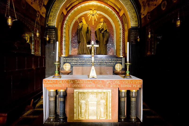 La cappella centrale della cripta