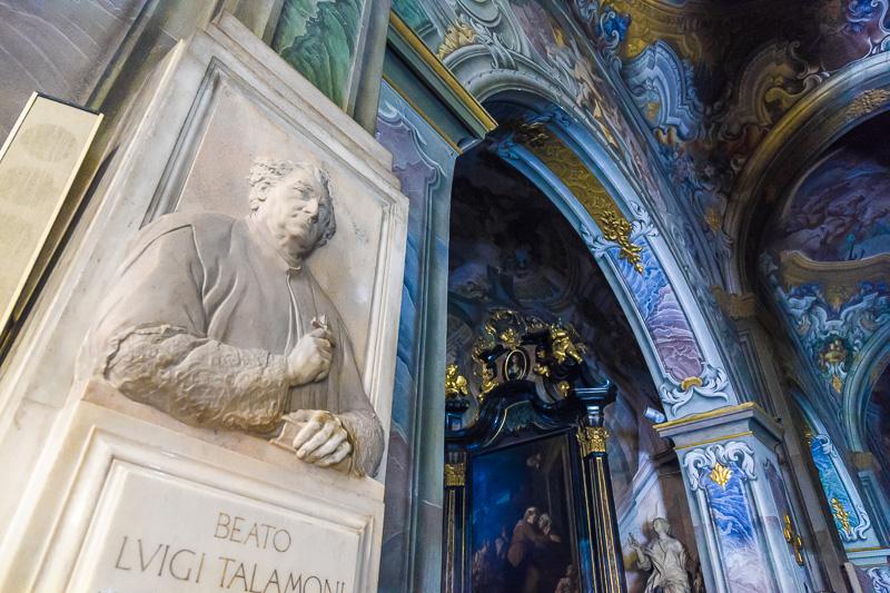 La lapide del Beato Luigi Talamoni