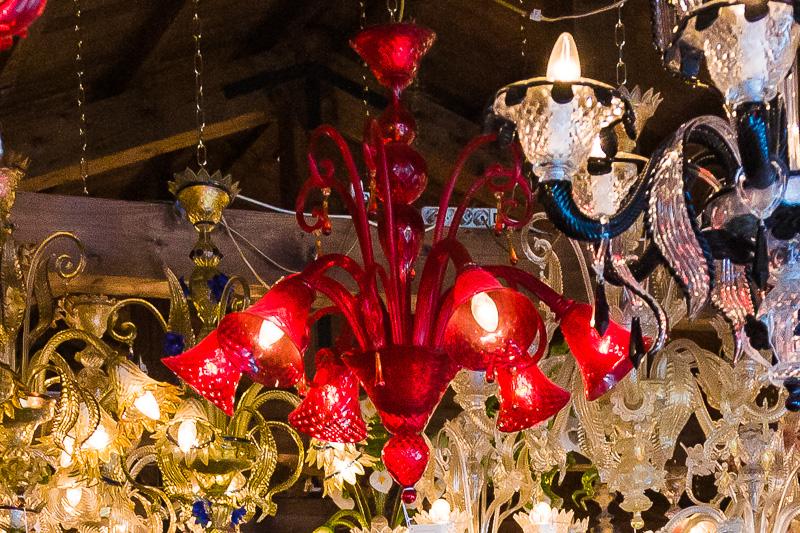 Lampadari in vetro soffiato di Murano