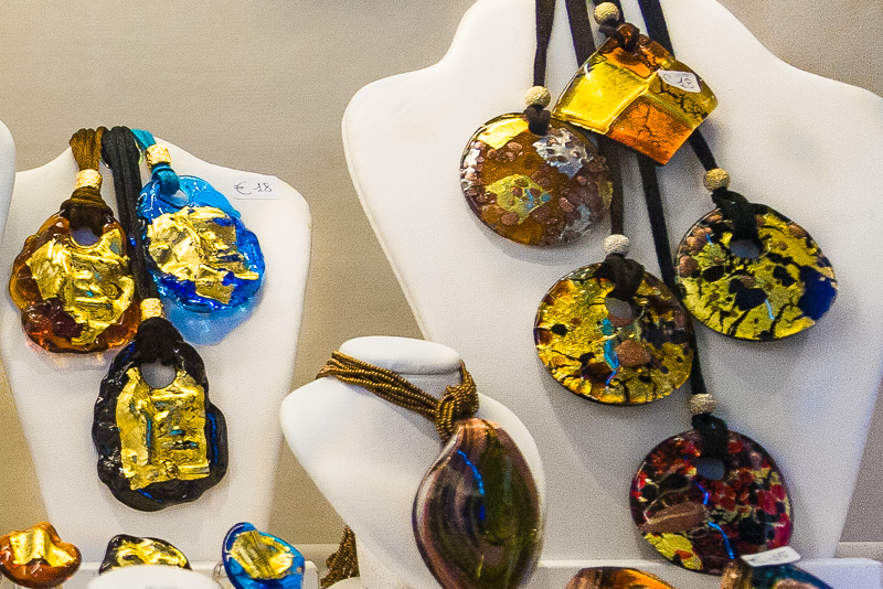 Collane in vetro di Murano