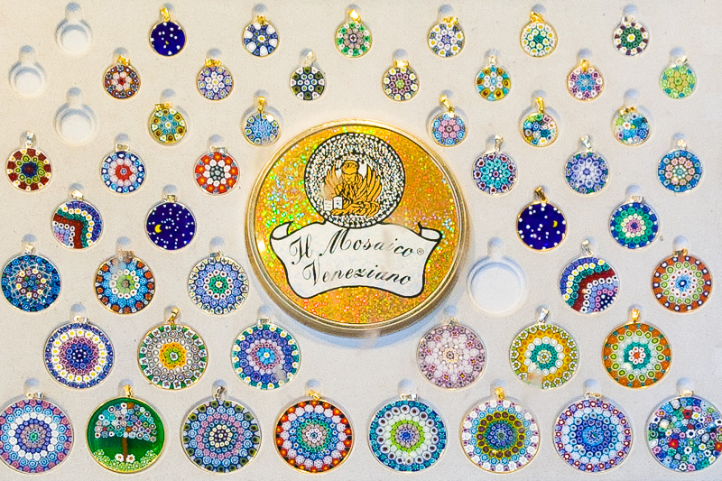Medaglioni in vetro di Murano