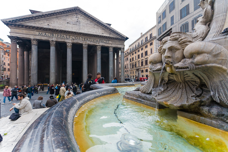 La fontana di piazza della Rotonda