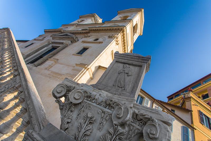 La chiesa della SS. Trinità dei Monti