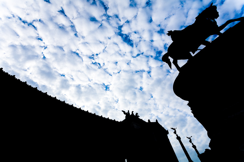 La silhouette del Vittoriano