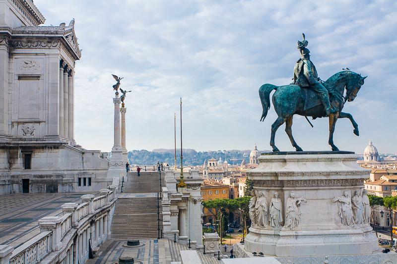 Il monumento equestre di Vittorio Emanuele II