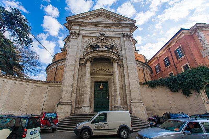 La facciata della chiesa di Sant'Andrea al Quirinale