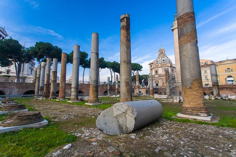 Le colonne del Foro di Traiano