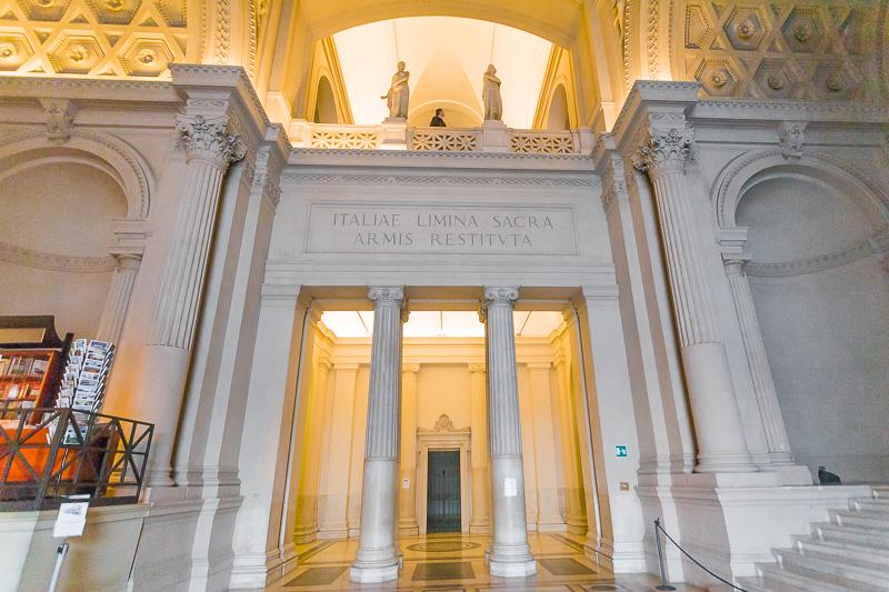 Ingresso del Museo Centrale del Risorgimento al Vittoriano
