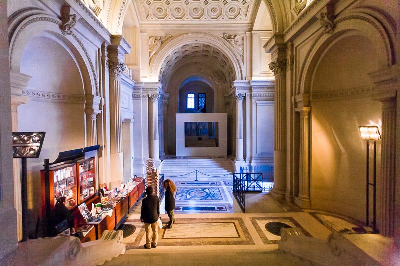Le scalinate di accesso al Museo Centrale del Risorgimento