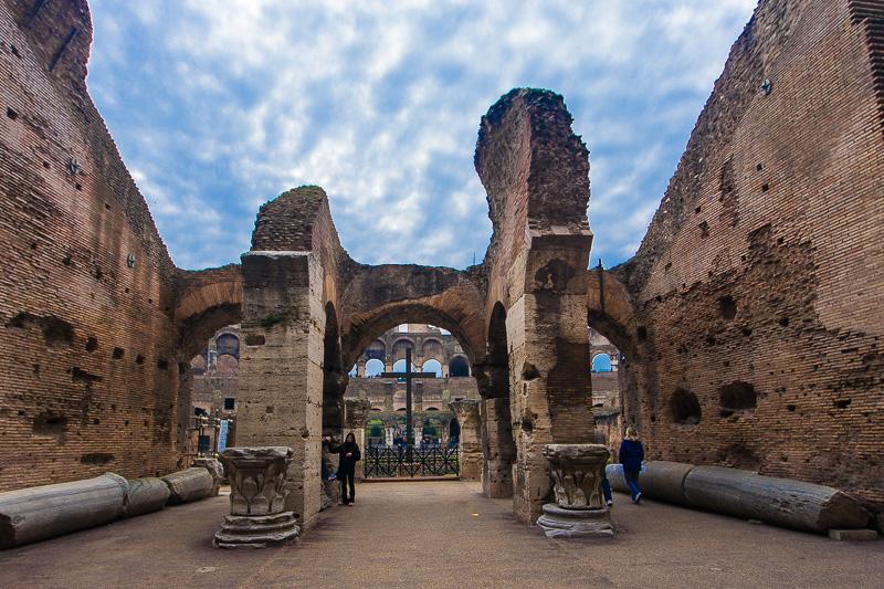La cavea del Colosseo