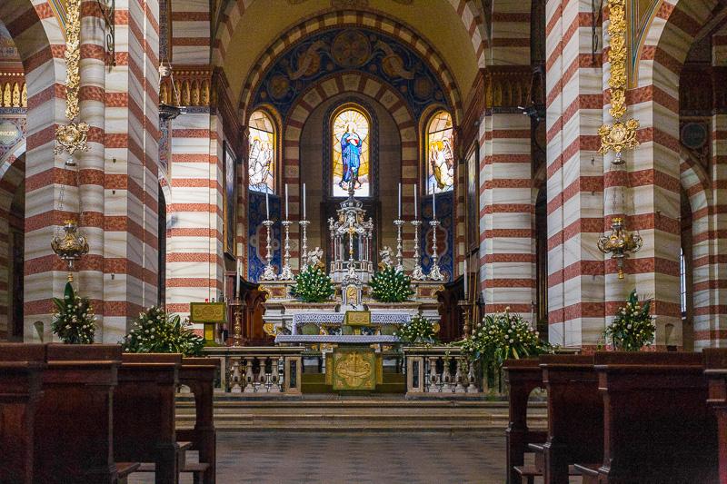Il presbiterio della pieve di Santa Maria Assunta