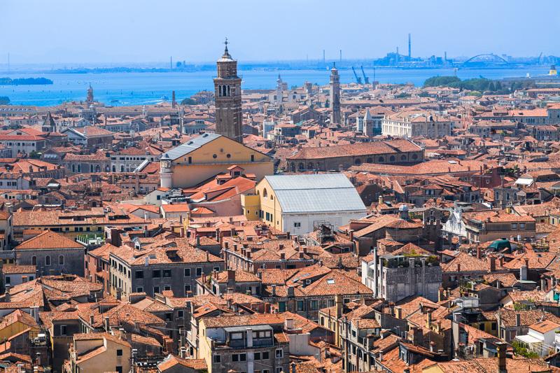 Panorama della città di Venezia
